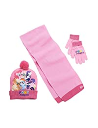 My Little Pony Movie Girls Hat, Scarf and Glove Set - 3-Piece