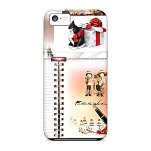 Awesome EWF3975ZepU SPetry Defender Tpu Hard Case Cover For Iphone 5c- Christmas Mood
