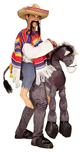 Forum Novelties Men's Hey Amigo Costume, Multi, One Size (Donkey With Sombrero)