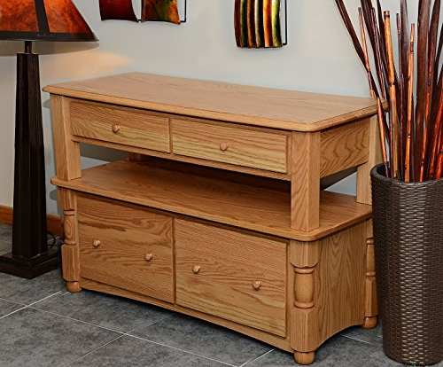 Country Style Solid Oak Double Tier Lateral Filing Cabinet #8845