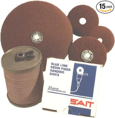 United Abrasives-SAIT 50138 SAIT 2A 7 X 5//8-11 80X Sait-Lok Fiber Disc 15 Pack