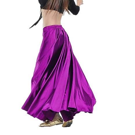 DANCER Falda de Danza del Vientre Trajes de Danza Tribal Satén ...