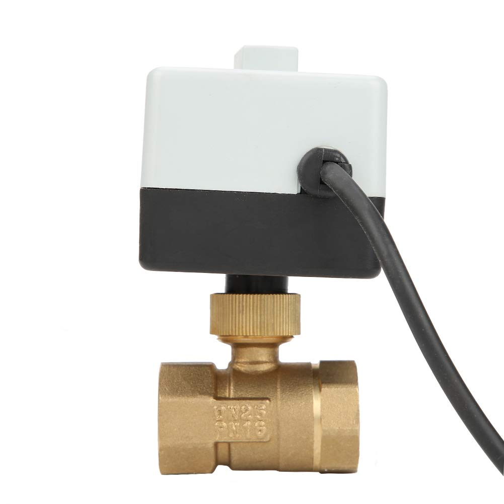 Electric Ball Valve for Floor Heating Systems Air Conditioning Systems 5-95℃ Medium Temperature 2 Way Motorized Ball Valve