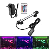 LED Aquarium Light, Colorful Submersible Fish Tank Light Heat-Resistant Remote Control Waterproof Underwater