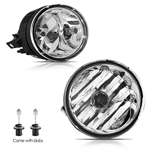 AUTOWIKI Driver & Passenger Side Front Bumper Fog Lights Lamps Kit Compatible for 2005-2007 Nissan Armada / 2004-2014 Nissan Titan - Clear Lens (A -