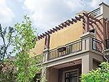 Easy2Hang EZ2hang Outdoor Shade Cloth Vertical Side Wall Panel Patio/Pergola/Window 8x8ft Wheat