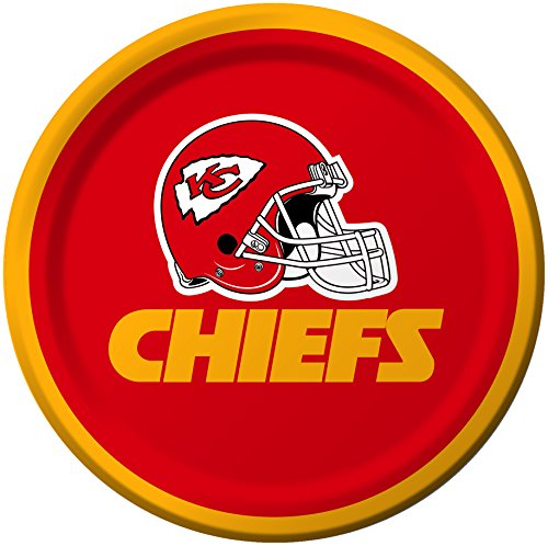 Creative Converting 8 Count Kansas City Chiefs Paper Dessert Plates -