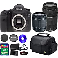 Deluxe Kit For 7D DSLR Camera +18-55mm IS STM Lens +EF 75-300mm f/4-5.6 III Lens + 32 GB SDHC Memory Card + Front Lens Cap + Rear Lens Cap + Strap + Camera Case