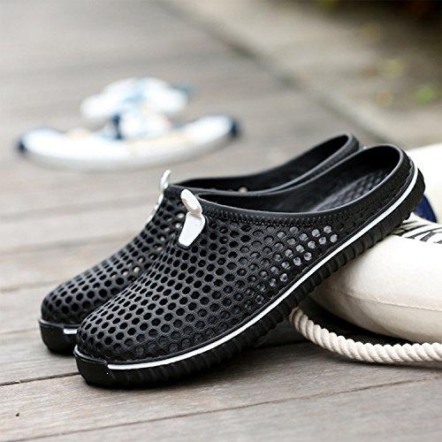 Sandales Couples Chaussures Frestepvie Sabots Femmes de Tongs de Léger Hommes Sport Noir Mules Respirant Pantoufles Plage OxOzFYq
