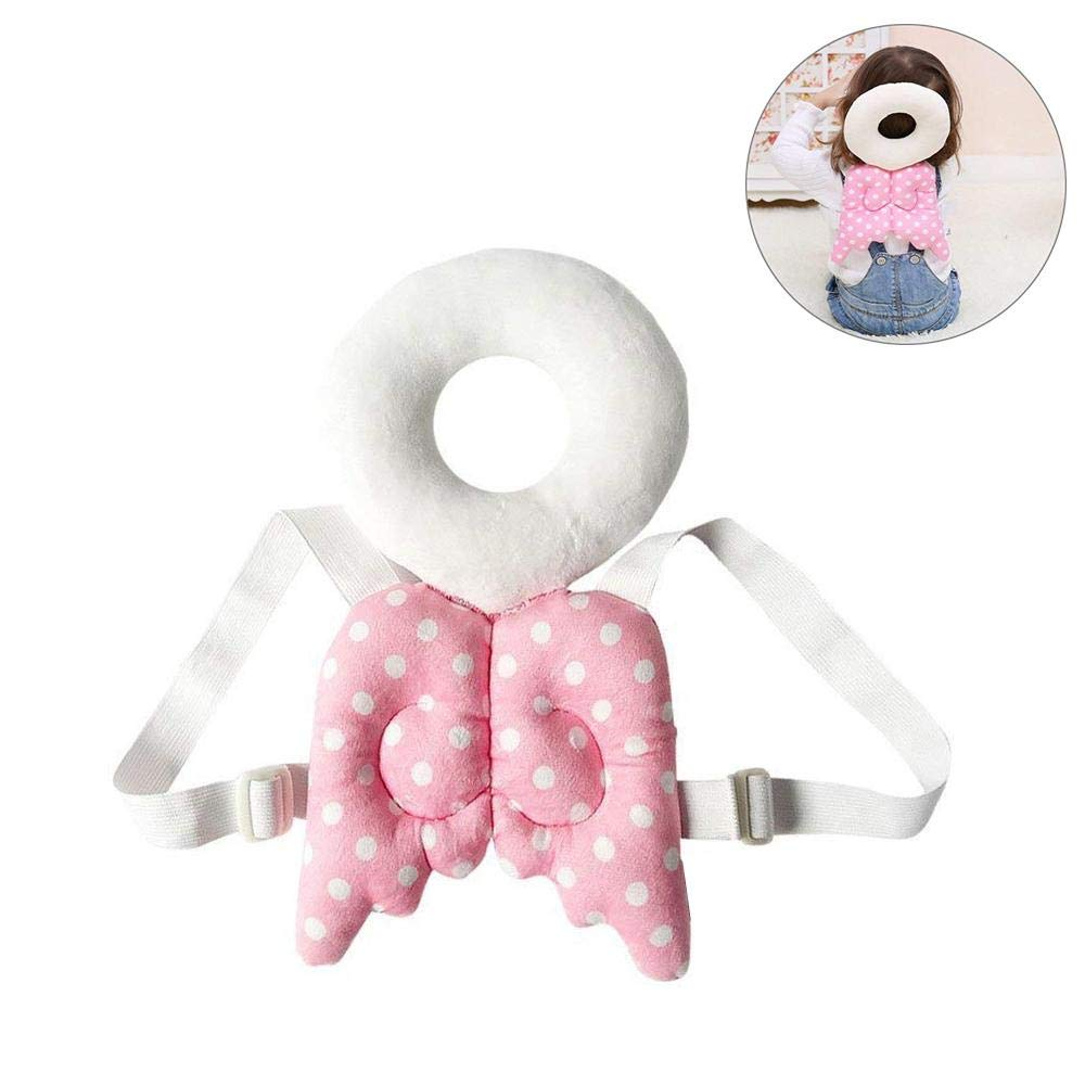 Infant Toddler Straps Head Pillow Cute Wing Toddler Head/Safety/Cushion Vuffuw Baby Shatter-Resistant Headrest Baby Back Protection Pad