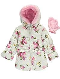 "Rothschild Baby Girls' ""Floral Splash"" Insulated Jacket with Mittens"