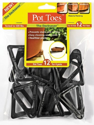 Plantstand PT-12BLHT 12-Pack Black Pot toes