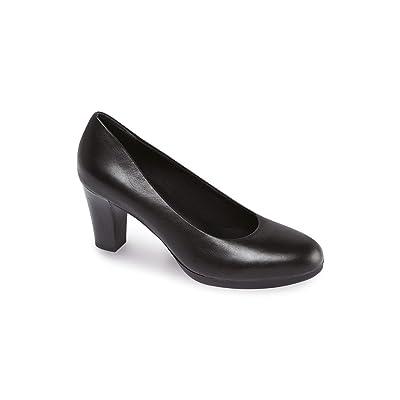 Alexandra Footsure Stc-fw304bk-5Femme en cour de Brevet Chaussures, UNI, cuir italien, taille: 5, Noir