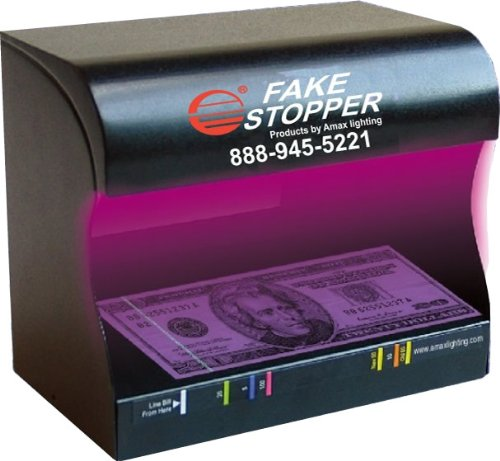 Fake Stopper - Professional Counterfeit Money Detector by Amax Lighting