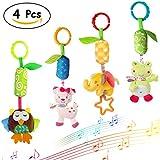 Merveilleux Baby Rattle Toys Infant Soft Hanging Toy 4pcs Newborn Stroller Car Seat Crib Plush Animal dolls