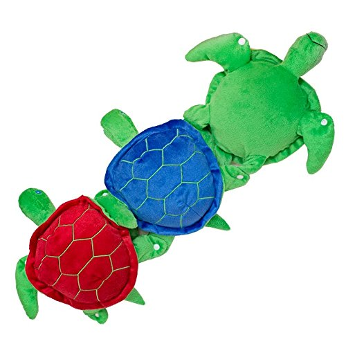 Fun and Function Plush Snapping Turtles with Fuzzy Texture Set of 3 – Provides Heavy Hand & Fine Motor Work for Ages 3+ by Fun and Function