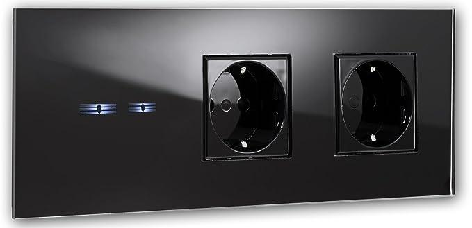 ROHDE+ROHDE® schwarze Touch-Schalter-Steckdosen Kombination. 5 Jahr ...