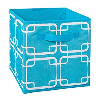 ClosetMaid 1846 Cubeicals Fabric Drawer, Ocean Blue Square Print