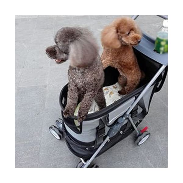 YD Pet Travel Carrier Pet Trolley Multifunctional Folding Four-wheeled Pet Stroller Cat Teddy Large Dog Cart Pet Scooter… Click on image for further info. 5