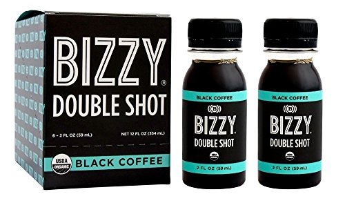 Bizzy Organic Cold Brew Coffee Concentrate - Single Serve 2oz Double Shot - Black Coffee - 12 Pack by Bizzy (Image #1)