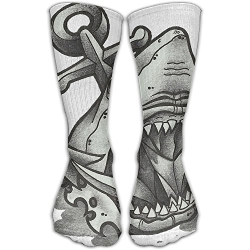 Dark Shark Women & Men Socks Soccer Sport Tube Stockings Length 30cm ()