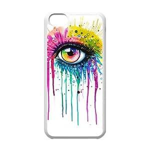 Custom New Cover Case for Iphone 5C, Rainbow Eye Phone Case - HL-R638931