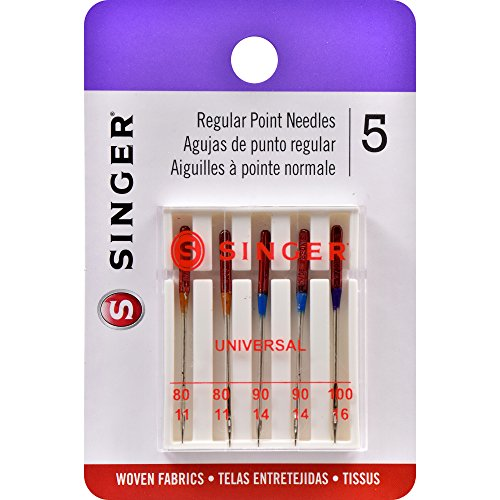 Singer Universal Regular Point Machine Needles 5-Count