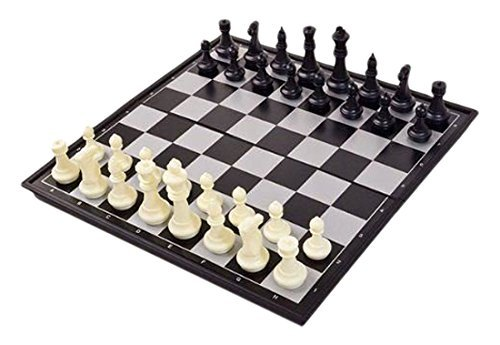 (Shine 25x25cm Magnetic Folding Chess Board Portable Set with Pieces Games Sport Camping Travel)