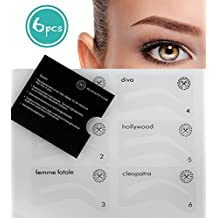 Eyebrow stencil for styling perfectly plucked and even eyebrows, eyebrows powdering, eyebrows, eyebrows Styling by Blissany - 6 Styles for the perfect appearance