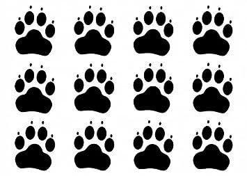 Wandtattooladen Wandtattoo Hundepfoten 12er Set Grosse 15cm Farbe