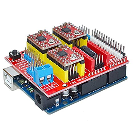 Amazon.com: CNC Shield V3 3D Printer Expansion Board+A4988 ...