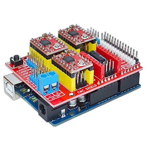 CNC Shield V3 3D Printer Expansion Board+A4988 Driver+ Geekcreit UNO R3 by BephaMart