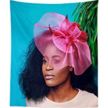 Westlake Art Wall Hanging Tapestry - Flower Woman - Photography Home Decor Living Room - 26x36in