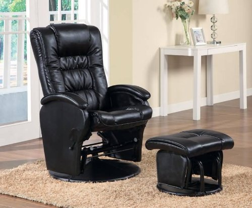 Coaster The Tyler Collection Glider I With Ottoman - Rocker Collection Glider