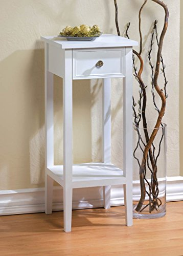 (White Accent Table or Plant Stand)