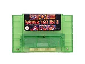 Transparent Green 101 in 1 game cartridge 16 bit video game cartridge for SNes