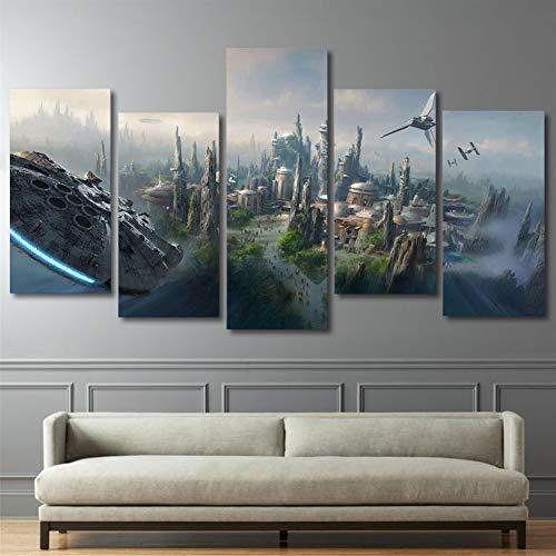 HCHD Cartel Moderno de la Lona representa Arte de la Pared del Panel 5 de pelicula de Star Wars for la Sala de Estar decoracion del hogar del Cartel Pintura