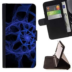 For LG OPTIMUS L90 - Abstract Blue Spiral /Funda de piel cubierta de la carpeta Foilo con cierre magn???¡¯????tico/ - Super Marley Shop -
