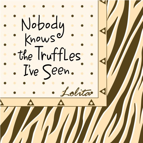 Lolita-by-CR-Gibson-Paper-Cocktail-Napkins-Package-of-20-Chocolate-Zebra