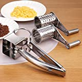 Superelead Multipurpose Daisy Rotary Cheese Chocolate & Vegetable Grater Cutter Grinder With 2 Different Drums (Stainless Steel)