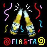 Corona Fiesta Real Glass Beer Bar Display Neon Sign 19x15