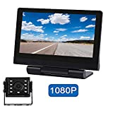 Tonew Backup Camera for Trucks and 7 inch Monitor Kit, Dashcams for Cars Front and Rear, Night Vision,IP68 Waterproof Rear View Camera for Truck/RV/Trailer/Bus/Vans/Vehicle
