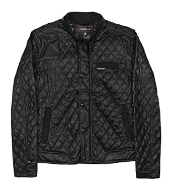 Members Only Men's Quilted Hipster Jacket, Black, XX-Large
