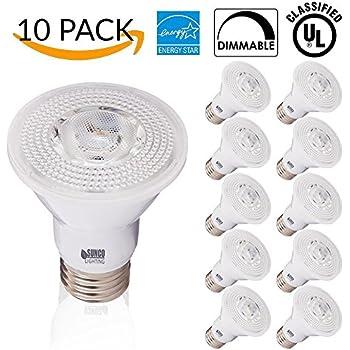 Sunco Lighting 10 PACK - PAR20 LED 7 WATT (50W Equivalent), 2700K Soft White, DIMMABLE- Indoor/Outdoor Lighting, 470 Lumens, Flood Light Bulb- UL LISTED