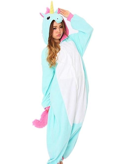 Samgu Unisexo Adulto Animal Kigurumi Cosplay Trajes Disfraz Pijamas Onesie Ropa de Dormir Homewear Talla S