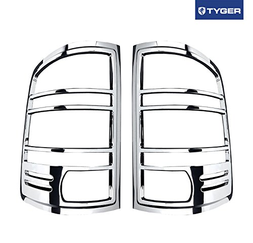 - Tyger Auto Fit 07-13 GMC Sierra Chrome ABS Tail Light Bezel Trim Cover