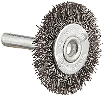 Firepower Circular Type Crimped Wire Wheel Brush with 1-1/2-Inch Wheel Diameter and 1/4-Inch Shank