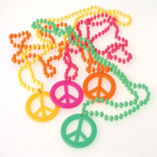 US Toy Peace Sign Necklaces Costume -