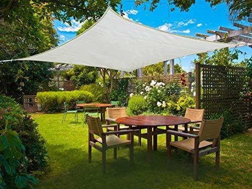 Sunnylaxx Vela de Sombra Cuadrado 2.5 x 2.5 Metros, toldo Resistente y Transpirable, para Exteriores, jardín, Color Crema: Amazon.es: Jardín