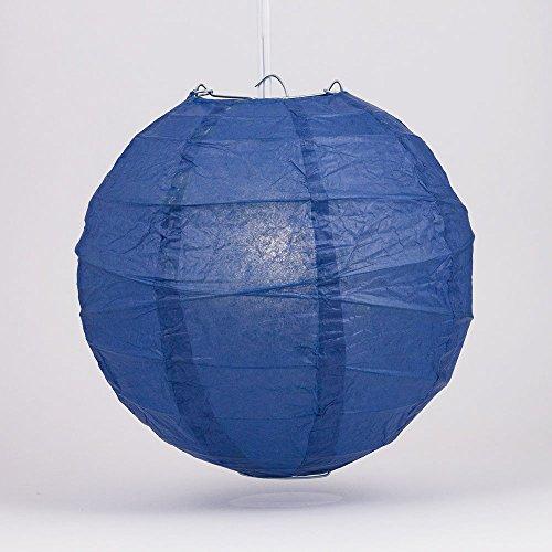 PaperLanternStorecom-20-Navy-Blue-Round-Paper-Lantern-Crisscross-Ribbing-Hanging-Decoration